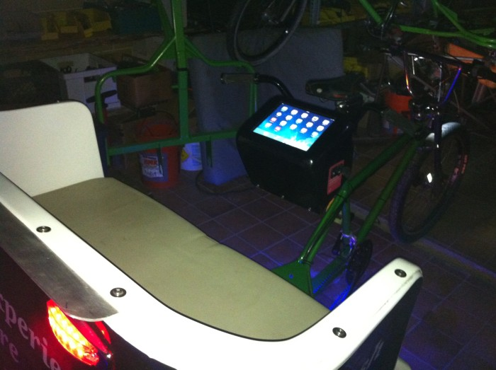 In pedicab iPad stations